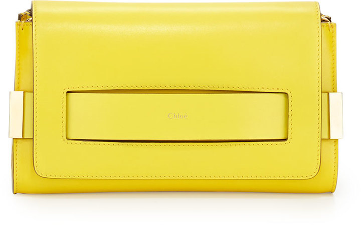 Chloé Chloe Elle Clutch Bag With Shoulder Strap Yellow