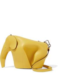 Loewe Elephant Leather Shoulder Bag Yellow