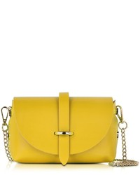Le Partier Small Yellow Leather Shoulder Bag