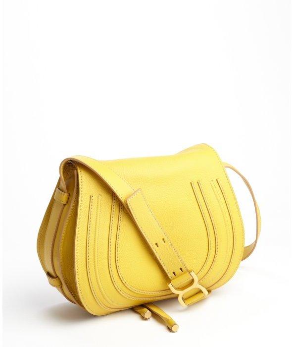 chlo 233 yellow lambskin marcie crossbody bag