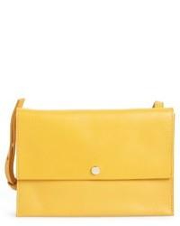 Crossbody leather bag brown medium 3996269