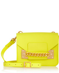 Sophie Hulme Envelope Chain Embellished Mini Leather Shoulder Bag