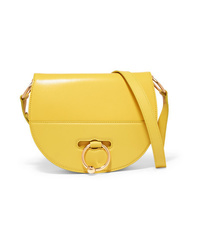 JW Anderson Latch Smooth And Textured Leather Shoulder Bag