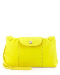 Le pliage cuir crossbody bag yellow medium 128774