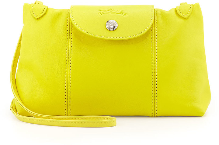 151bbf734dcf ... Longchamp Le Pliage Cuir Crossbody Bag Yellow ...