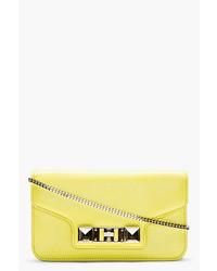 Proenza Schouler Lemon Yellow Leather Ps11 Chain Clutch