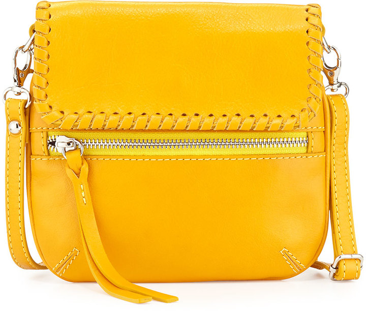 1cd39807cc3a ... Leather Crossbody Bags Neiman Marcus Made In Italy Whipstitch Trim Crossbody  Bag Yellow ...