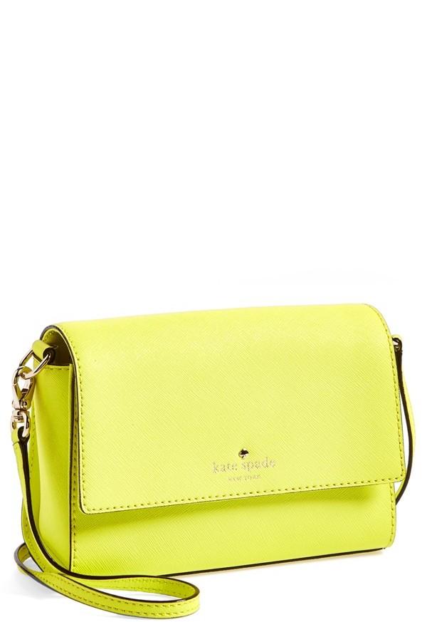 c04af251e9 ... Yellow Leather Crossbody Bags Kate Spade New York Cedar Street Magnolia Crossbody  Bag ...