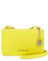 Quadri leather crossbody bag yellow medium 128768