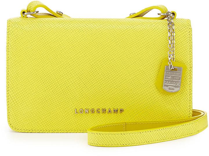 6d24591a49 Longchamp Quadri Leather Crossbody Bag Yellow, $365 | Neiman Marcus ...