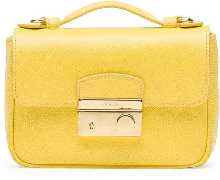 d1f5afe56f77 ... Prada Saffiano Mini Crossbody Clutch Yellow ...