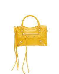 Balenciaga Yellow Classic Mini City Shoulder Bag