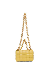 Bottega Veneta Yellow Intrecciato The Chain Cassette Bag