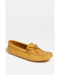 Yellow Leather Driving Shoes