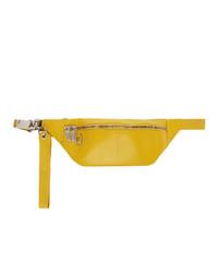 Rick Owens Yellow Leather Geo Bumbag