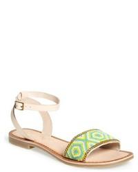 Aasia beaded ankle strap sandal medium 967927