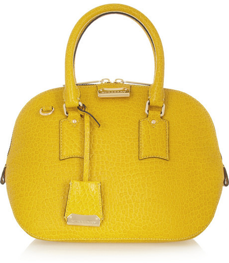 burberry cheap outlet e4zc  yellow burberry bag