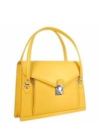 L.a.p.a. Double Compartt Calf Leather Briefcase