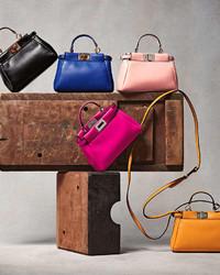 4fd001497a69 ... Leather Handbags Fendi Peekaboo Micro Satchel Bag Yellow Fendi Peekaboo  Micro Satchel Bag Yellow