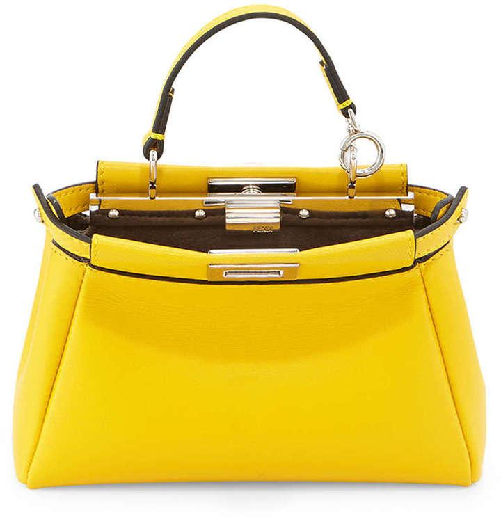 9936d22b4b Fendi Peekaboo Micro Satchel Bag Yellow, $1,550 | Neiman Marcus ...
