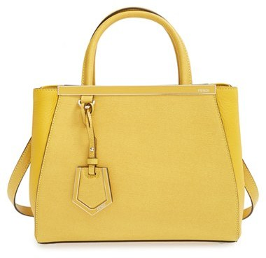 ... Handbags Fendi Petite 2jours Elite Leather Shopper ...