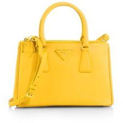 prada red saffiano lux small double-zip tote bag
