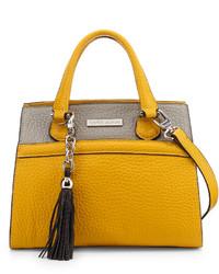 Charles Jourdan Valentina Two Tone Satchel Bag Yellowgray
