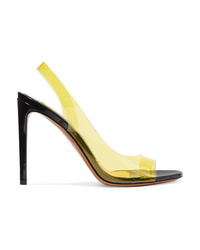 Alexandre Vauthier Amber Ghost Patent Leather And Pvc Sandals