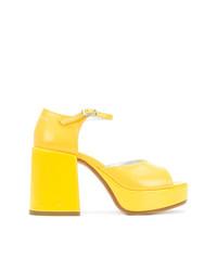 MM6 MAISON MARGIELA Block Heel Platform Sandals