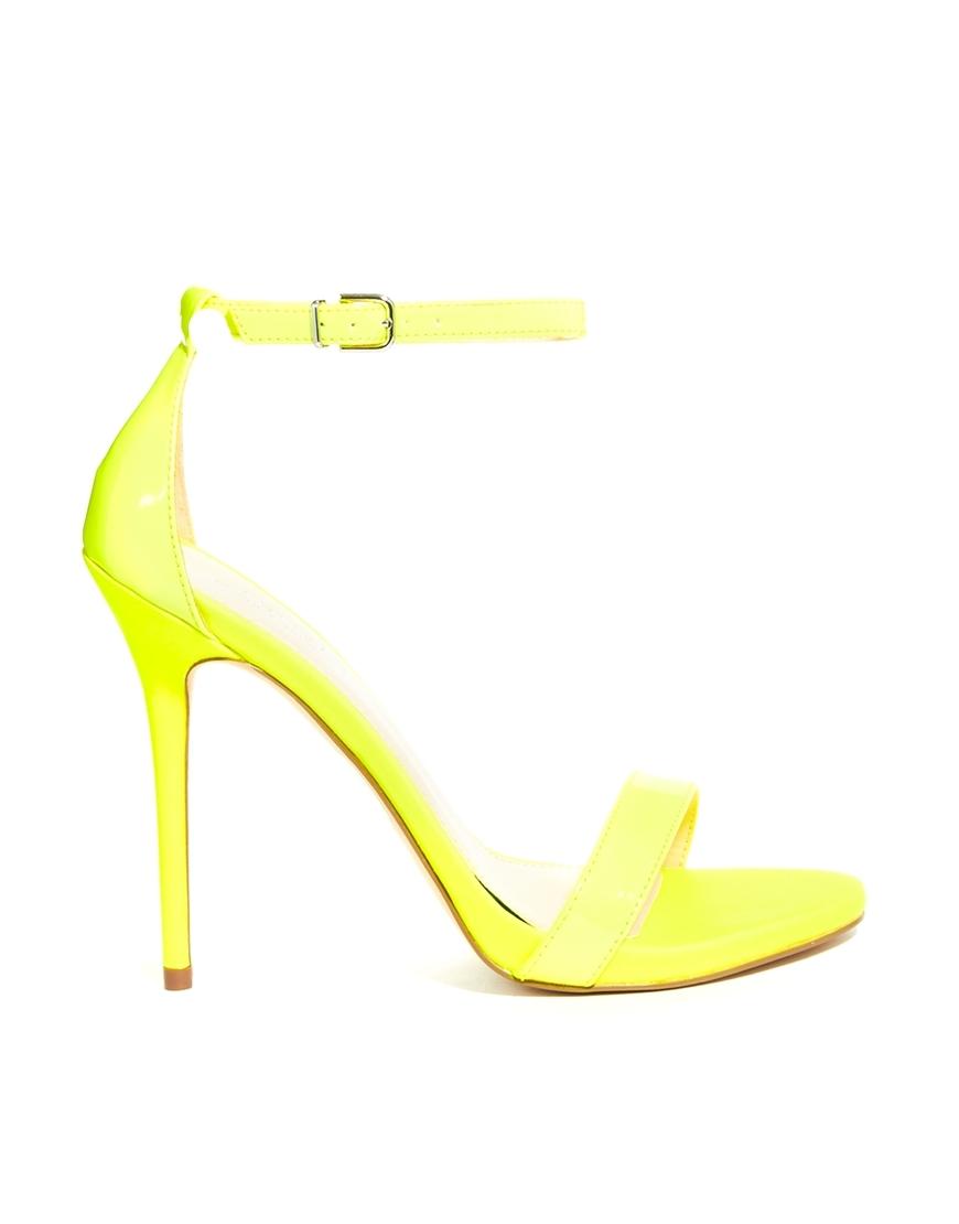 Neon Yellow Sandal Heels
