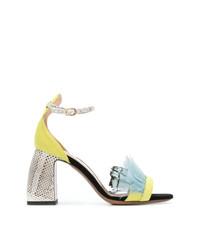 L'Autre Chose Feather Embellished Sandals