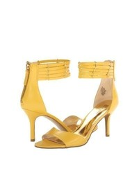 Nine West Ghadess High Heels Yellow Leather