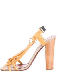 Lanvin Leather Multi Strap Sandals
