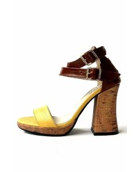 Miye Collazzo Yellow Leather Sandal