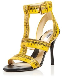 Moschino T Strap Sandals Ruler High Heel