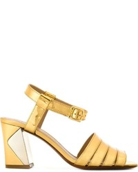 Tory Burch Block Heel Bellman Sandals