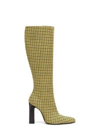 Balenciaga Houndstooth Boots