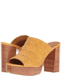 Frye Katie Woven Slide High Heels