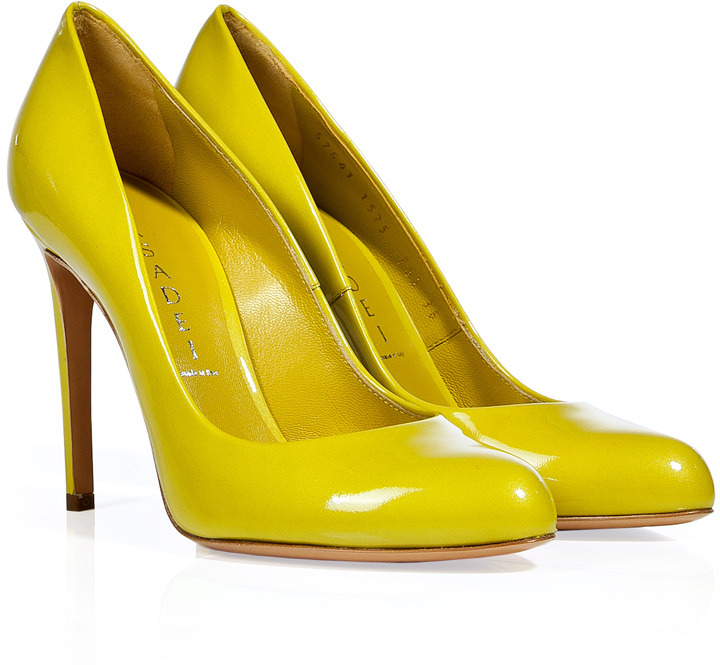 Casadei Pearly Yellow Patent Leather