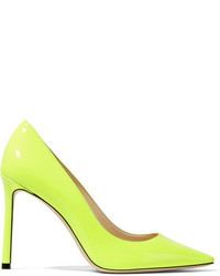 Jimmy Choo Romy 100 Patent Leather Pumps Bright Yellow