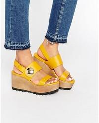 Mango Wooden Flatform Sandal