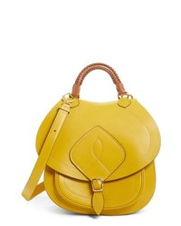 Yellow Leather Satchel Bag