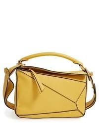Loewe Mini Puzzle Calfskin Leather Bag Beige