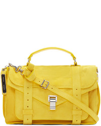 Proenza Schouler Yellow Suede Ps1 Medium Satchel