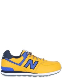 New Balance 574 Faux Leather Sneakers