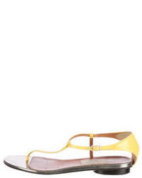 Lanvin Patent Leather Thong Sandals