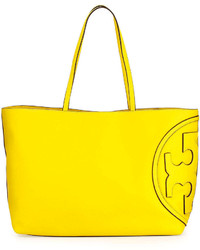 Tory Burch All T East West Tote Bag Reptile Yellow