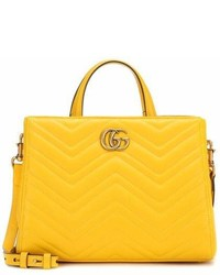 Gucci Gg Marmont Small Matelass Leather Tote