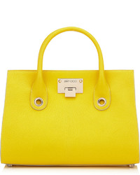 Jimmy Choo Rileym Optic White Soft Grained Leather Tote Bag