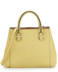 Victoria Beckham Liberty Small Leather Shopper Tote Bag Yellow